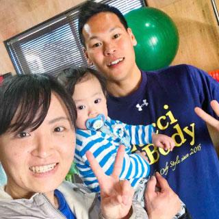 産後ダイエットトレーニング中の一コマ