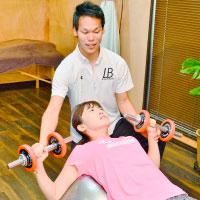 体幹トレーニングの様子