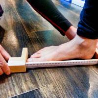 インソール製作の足の計測