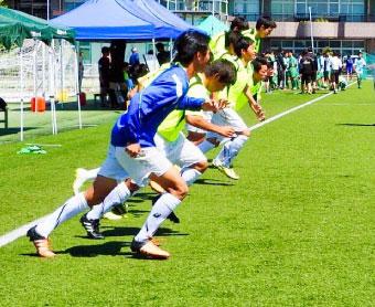 トレーニング中のチーム